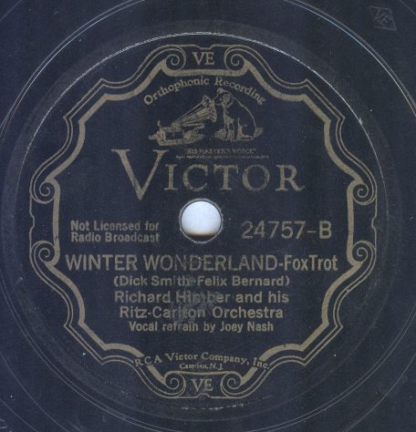 Photo of record label for Victor 24757